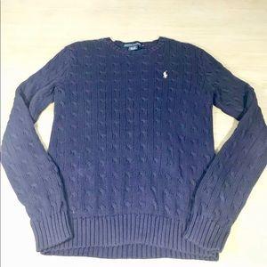 Ralph Lauren purple cable knit sweater womens XL